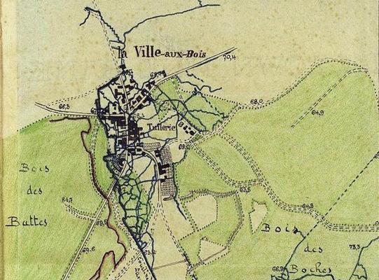 Stèle de Guillaume Apollinaire carte bois des Buttes 2015 III < La Ville-aux-Bois-lès-Pontavert < Aisne < Picardie
