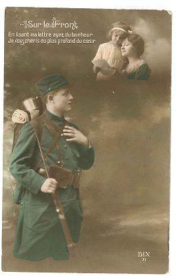 Carte postale 14-18 < Chemin du facteur < Guerre 14-18 < WWI < Aisne < Picardie < France