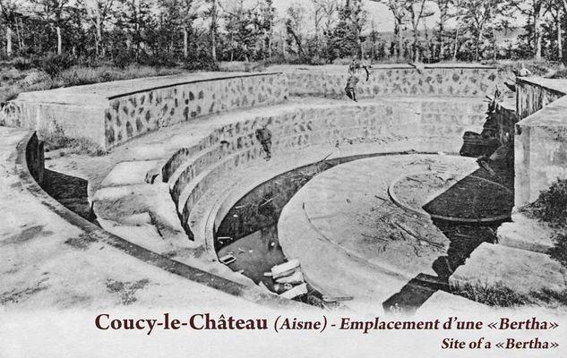 Plateforme du canon de Coucy-le-Château en 1918 < Guerre 14-18 < WWI < Aisne < Picardie < France