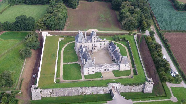 Vue aérienne Château Kerjean