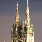 Flèches cathédrale
