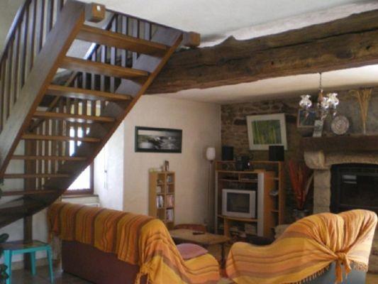 Gîte Pellerin Pleucadeuc salon - Morbihan - Bretagne