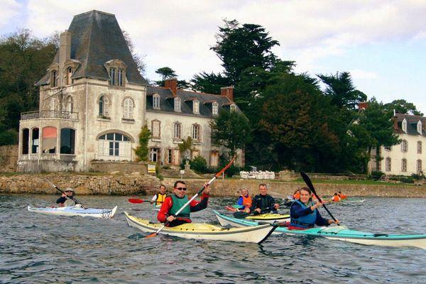 Kayak de mer en Baie de Douarnenez