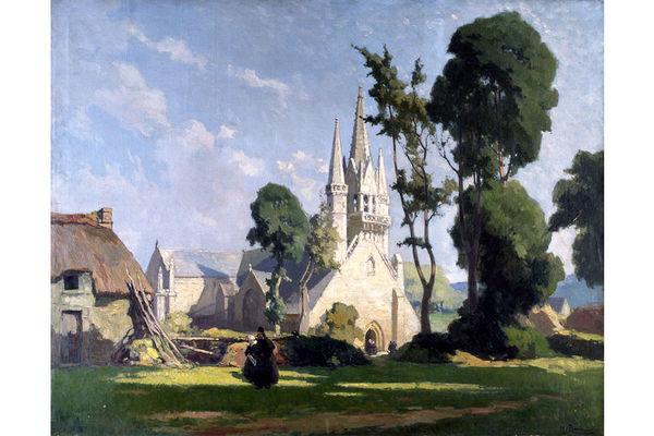 Henri BARNOIN (1882-1940) - L'église de Saint-Fiacre du Faouët
