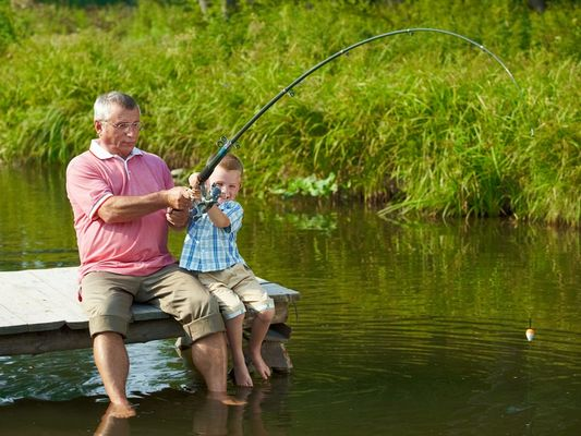 pecheurs -initiation pêche - lac au Duc - Taupont - Morbihan - Bretagne