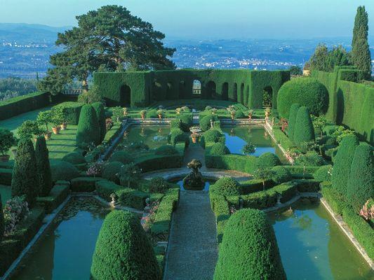 Jardin de la Gamberaia, Florence, Toscane, Italie