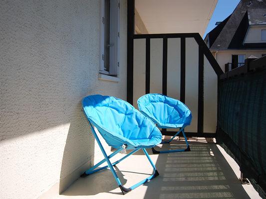 Balcon sud Résidence des Dunes - Merville-Franceville-Plage