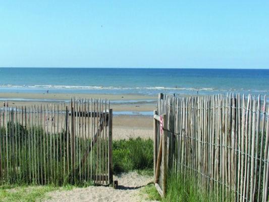 Camping de la mer acces plage cabourg