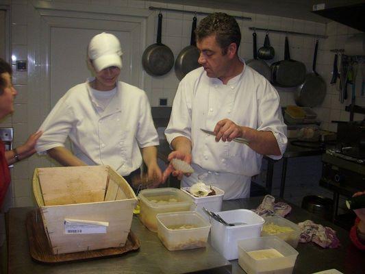 Restaurant Table de Manon Ranville chef coquilles saint jacques