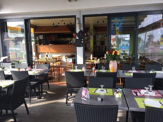 Restaurant le Santa Fé Merville-Franceville-Plage terrasse couverte