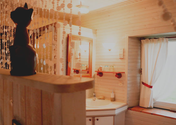 Salle de bain vue chambre