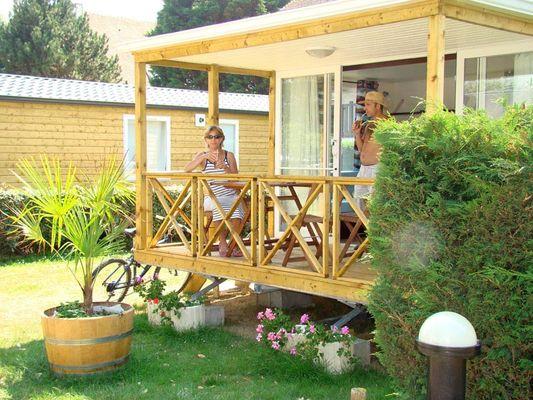 Vacanciers au camping Calvados