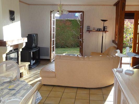 accès direct au jardin meublé l'aigrette
