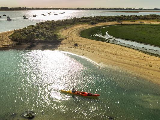 Kayak sur l'estuaire de l'Orne