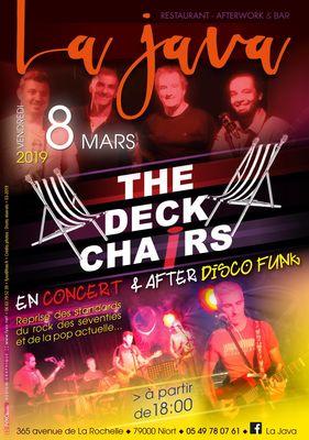The Deck Chairs en concert le 8 mars 2019