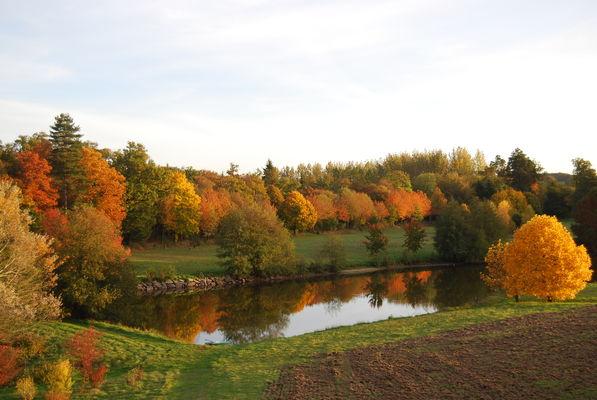 L'étang et le parc en automne