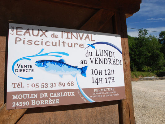 Panneau pisciculture de l'Inval