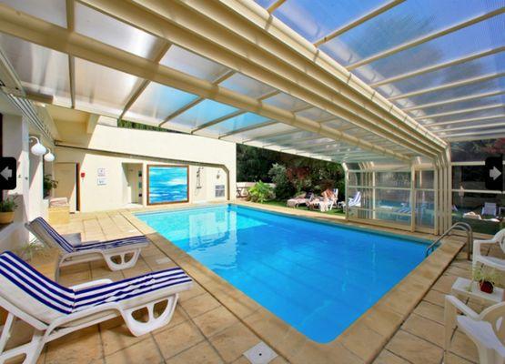 040231 - japifa - appartement sarlat - piscine chauffée - couverte - et spa