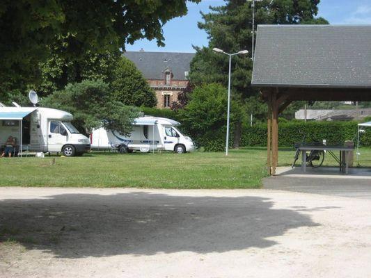 Aire de camping-car du camping de Châteaudun