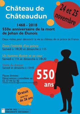 550e anniversaire de la mort de Jean de Dunois au château