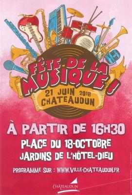 Fête de la musique à Châteaudun 2018