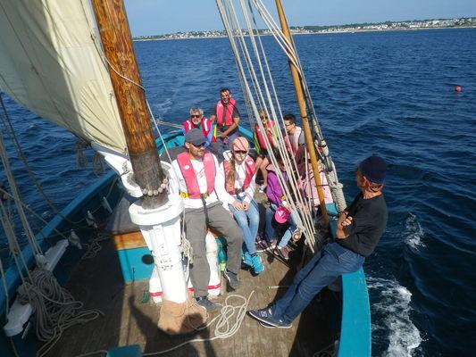Balade en mer à la voile La Louisette