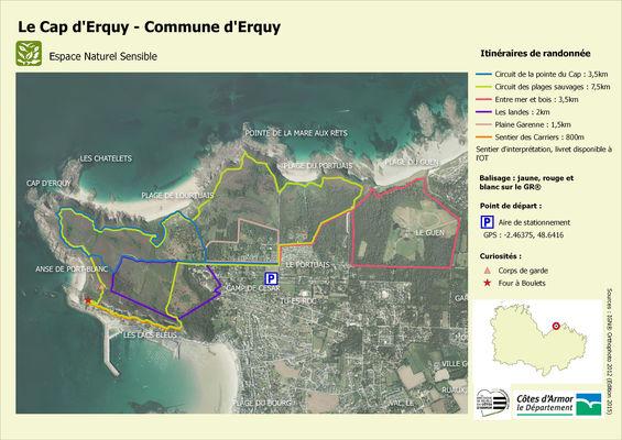 Carte ENS Cap d'Erquy