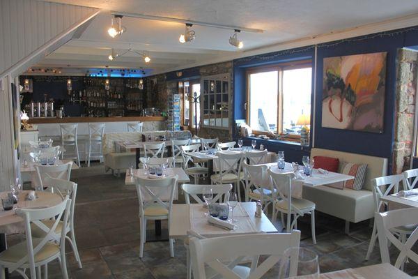 Restaurant Estran Ile-Tudy pays bigouden finistère bretagne salle vue mer