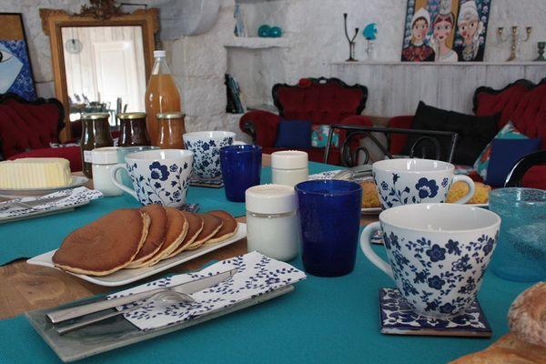 chambres d'hôtes -les bulles bleues -petit dej-Pouldreuzic-Pays bigouden