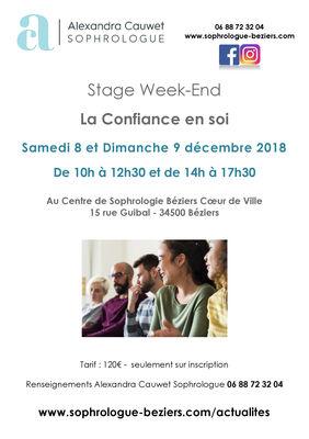 Stage Week-End 3 : La confiance en soi