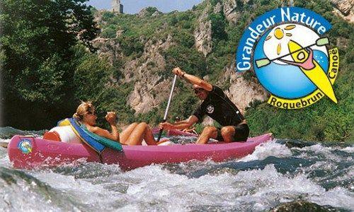 ASC - Roquebrun - Canoe - Grandeur Nature - Photo logo