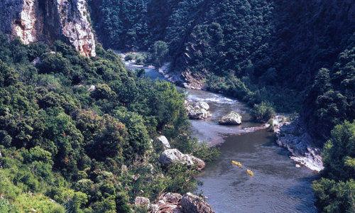 ASC - Roquebrun - Canoe - Grandeur Nature - Courbe de l'Orb vue d'en haut