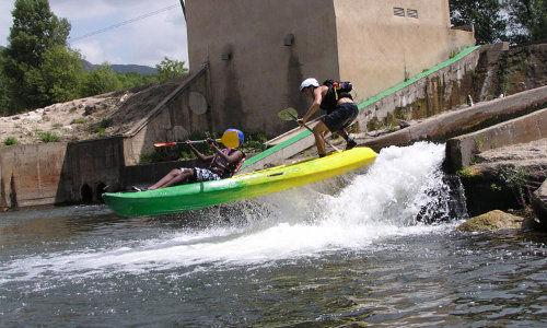 ASC - Roquebrun - Canoe - Grandeur Nature - Glissiere de Colombières