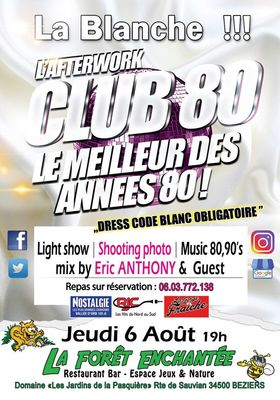 Affiche Afterwork Club 80