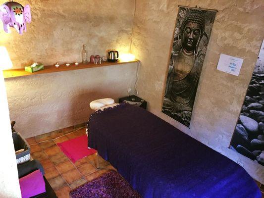 Le salon de massage du Domaine de Lacan