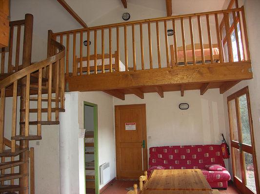 Grand chalet entrée et mezzanine droite
