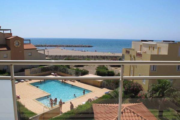 Valras plage 50m de la plage t3 r sidence avec piscine - Camping a valras plage avec piscine ...