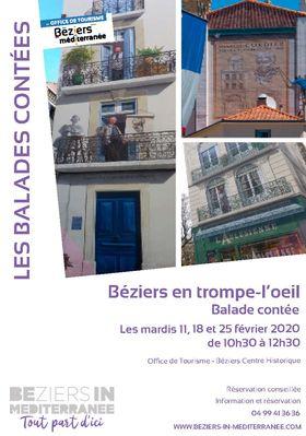 """Balade contée """"Béziers en trompe-l'oeil"""""""
