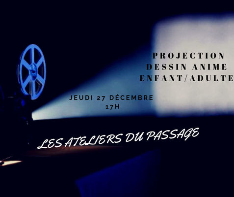 Projection Dessin Animé Adulte/Enfant diffusé sur petit écran