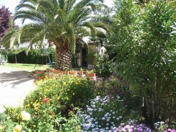 Le calme dans un jardin fleuri