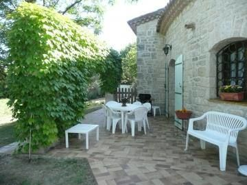 La terrasse côté cuisine