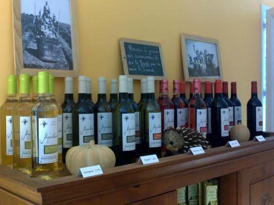 Vente de vin au Domaine.