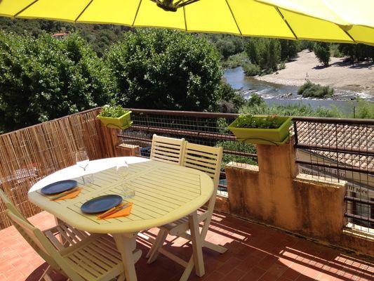 Chez Nanie-Vue de la terrasse