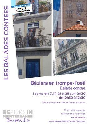 """Balade contée """"Béziers en trompe-l-oeil"""""""