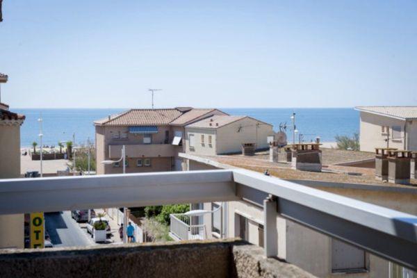 Résidence le Créole - vue du balcon - Valras-Plage