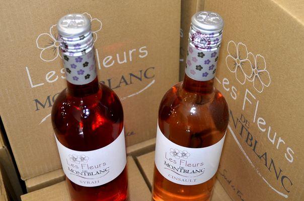 vignerons de montblanc fleurs rosés