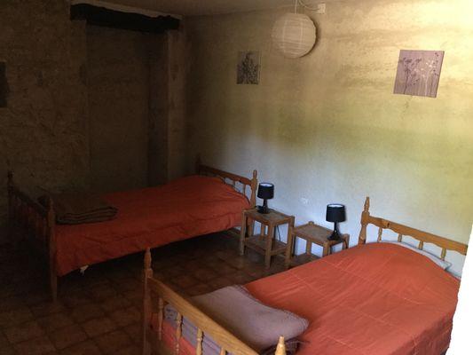 Gignole, la chambre à 2 lits, Domaine de Lacan