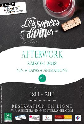 2018- afterworks affiche générique Béziers Méditerranée