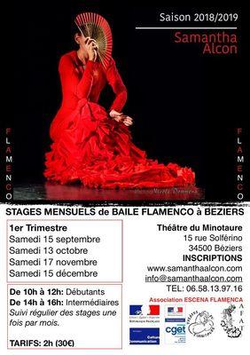2018-09-15 au 15 décembre stage flamenco samantha alcon