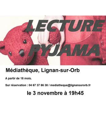 2018-11-03 lectures pyjama lignan